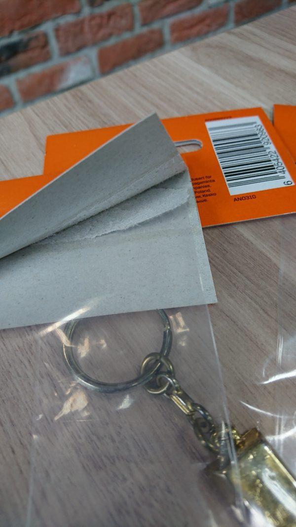 Termozawieszka: kartonowa zawieszka + torebka / woreczek